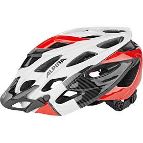Alpina D-Alto Casco de bicicleta, white-black-red